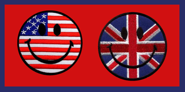 Smiley English and American Faces